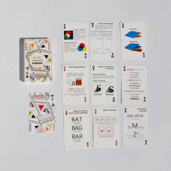 """Jeu de carte """"Quiz"""" Permettant d'améliorer ces connaissances sur les Industries Graphiques"""
