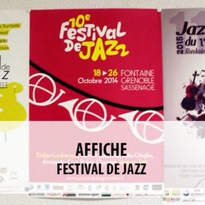 BTS ERPC - Projet Affiches festival de Jazz de Grenoble
