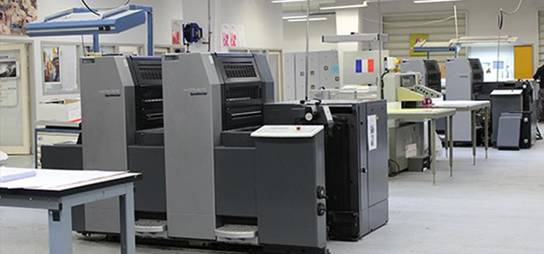 Atelier produits imprimés : Presses offset